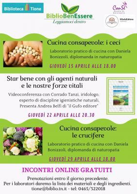 BiblioBenEssere: tre appuntamenti promossi dalla Biblioteca di Tione di Trento