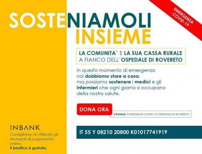"""Cassa Rurale di Rovereto: con """"Sosteniamoli insieme"""" la generosità ha dato i suoi primi frutti"""